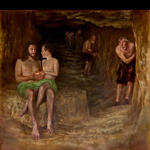 Prometheus (2019), oil on canvas,, 200 x 210 εκ.