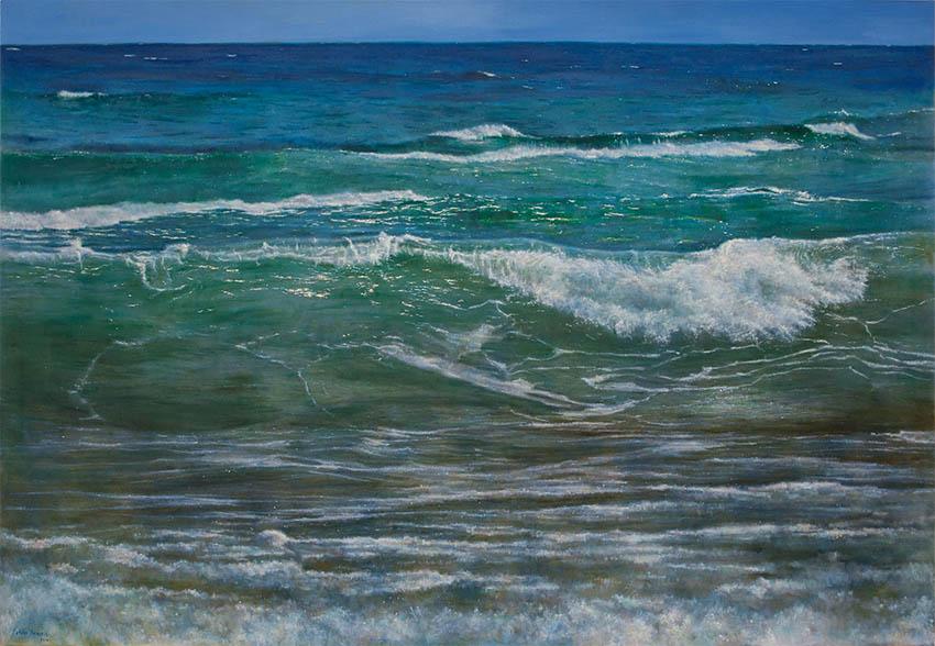Sea, oil on canvas, 150 x 200 cm.